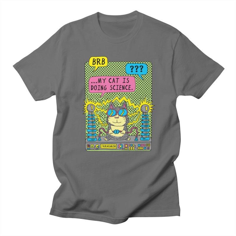 Cat Science Men's T-Shirt by JARHUMOR