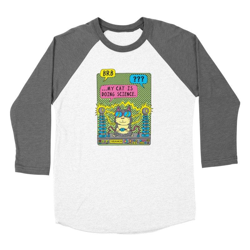 Cat Science Women's Longsleeve T-Shirt by JARHUMOR
