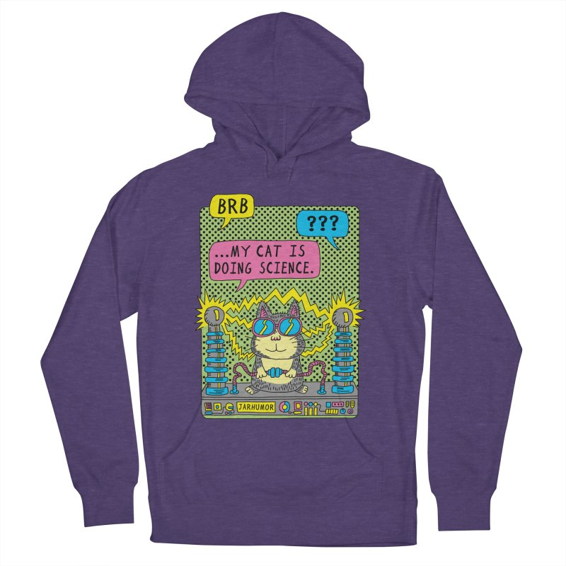 Cat Science Women's French Terry Pullover Hoody by JARHUMOR