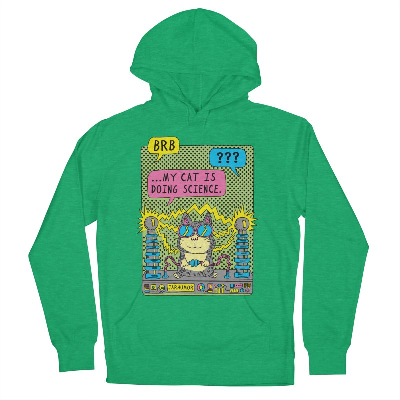 Cat Science Men's French Terry Pullover Hoody by JARHUMOR