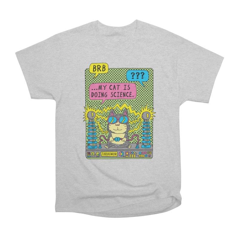 Cat Science Men's Heavyweight T-Shirt by JARHUMOR