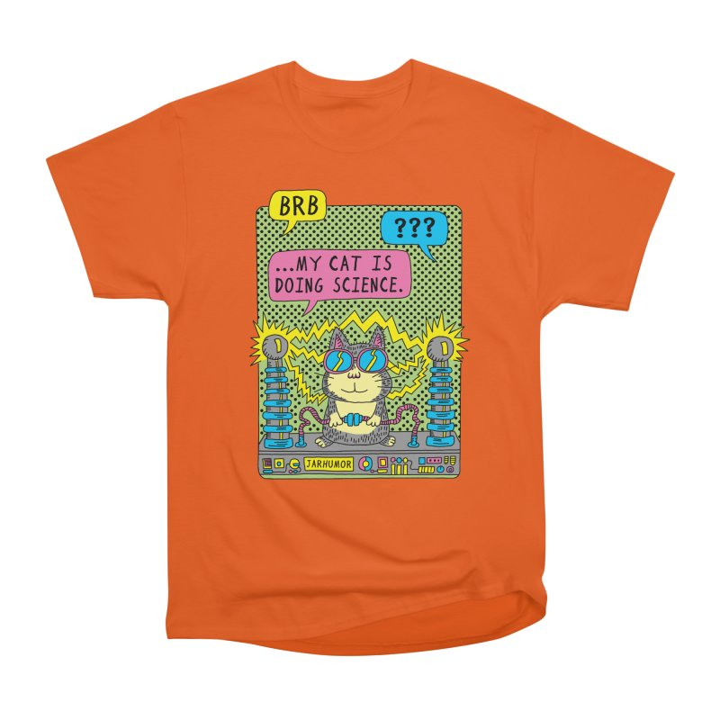 Cat Science Women's Heavyweight Unisex T-Shirt by JARHUMOR
