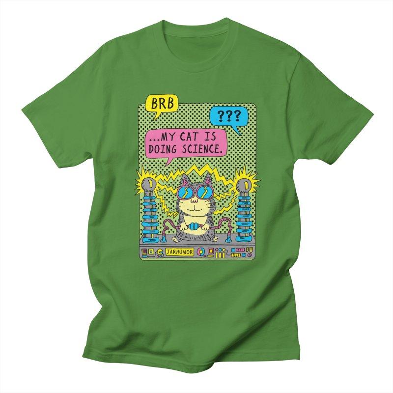 Cat Science Women's Regular Unisex T-Shirt by JARHUMOR