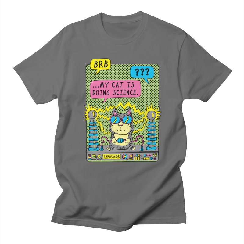 Cat Science Men's T-Shirt by JARHUMOR