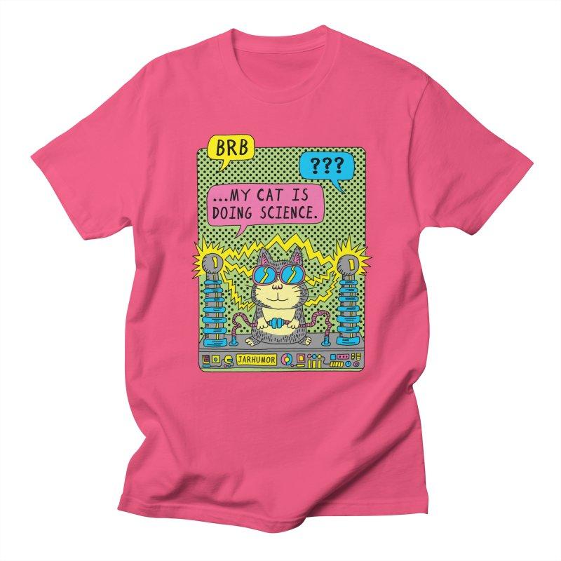 Cat Science Men's Regular T-Shirt by JARHUMOR