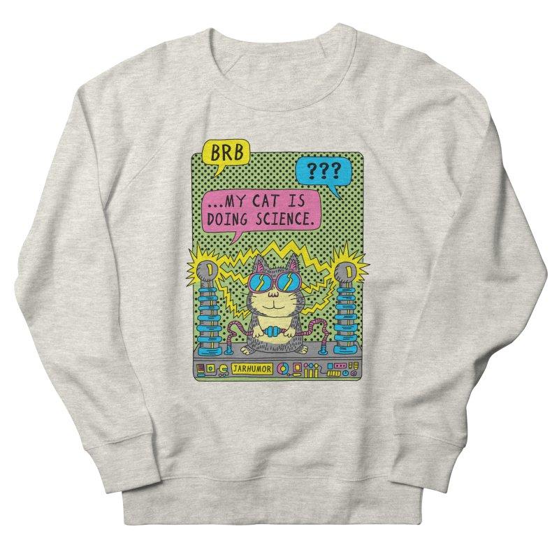 Cat Science Women's French Terry Sweatshirt by JARHUMOR