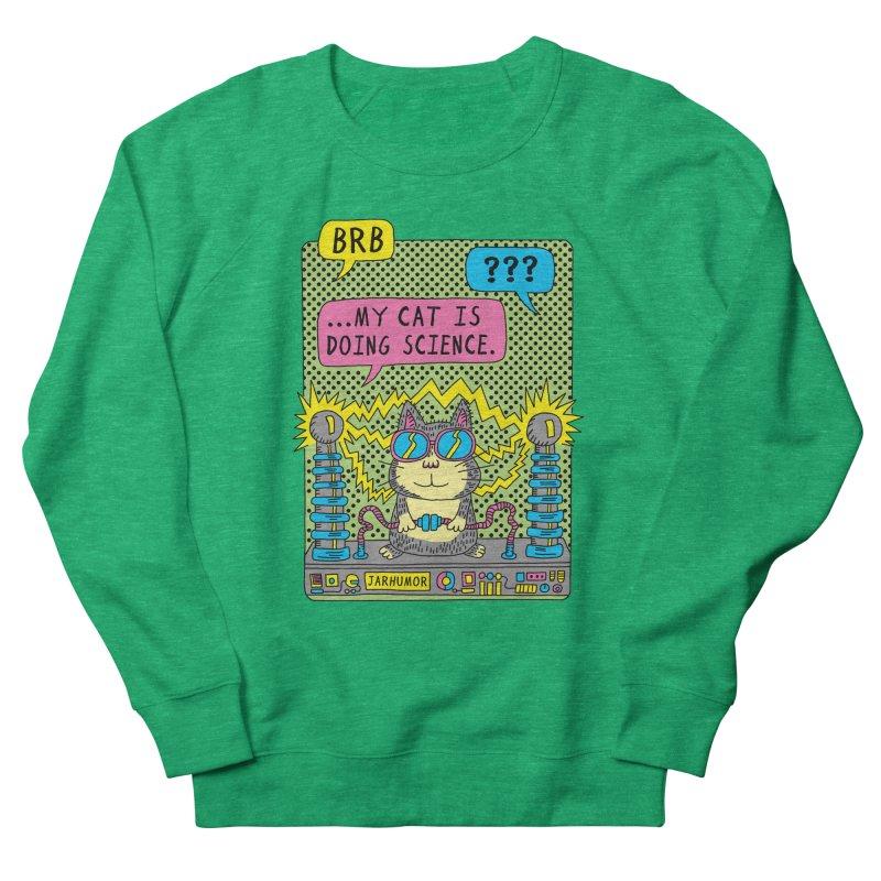 Cat Science Men's French Terry Sweatshirt by JARHUMOR