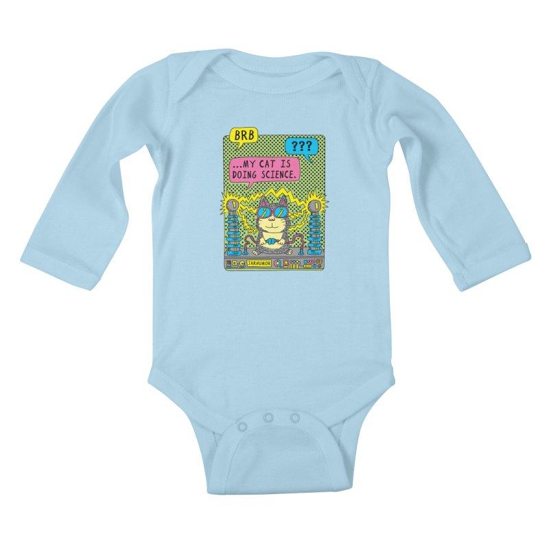 Cat Science Kids Baby Longsleeve Bodysuit by JARHUMOR