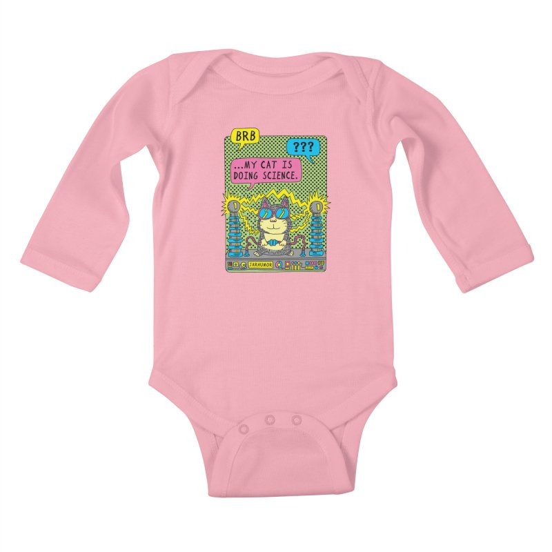 Cat Science Kids Baby Longsleeve Bodysuit by JARHUMOR