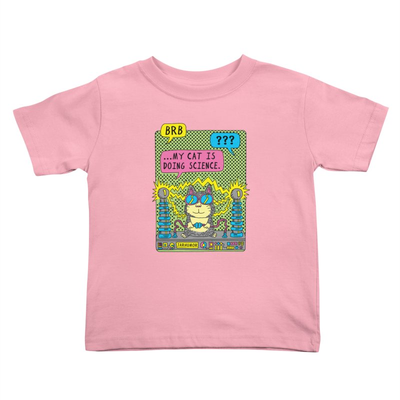 Cat Science Kids Toddler T-Shirt by JARHUMOR