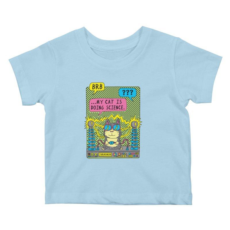 Cat Science Kids Baby T-Shirt by JARHUMOR