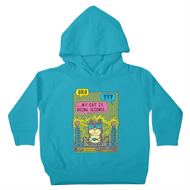 Cat Science Kids Toddler Pullover Hoody by JARHUMOR