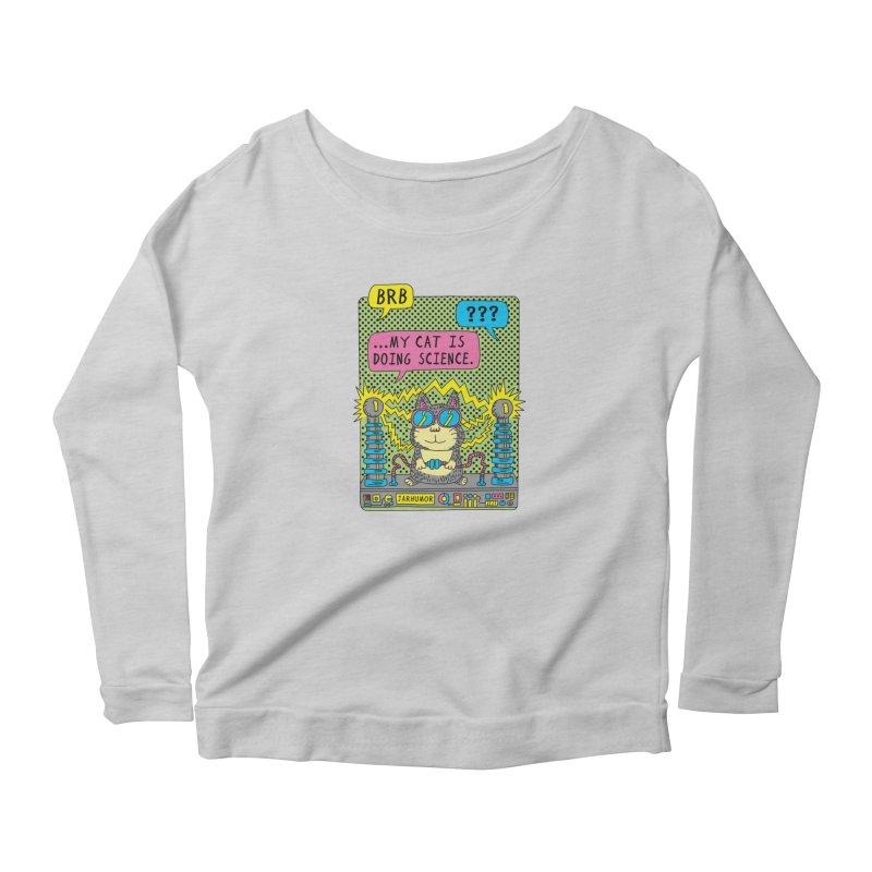 Cat Science Women's Scoop Neck Longsleeve T-Shirt by JARHUMOR
