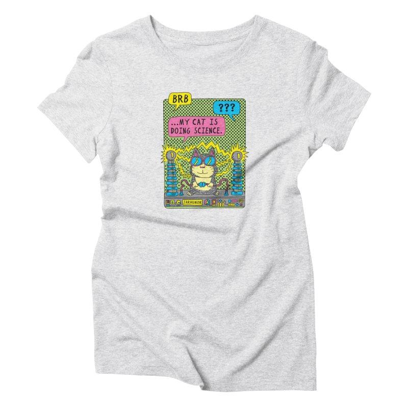 Cat Science Women's T-Shirt by JARHUMOR
