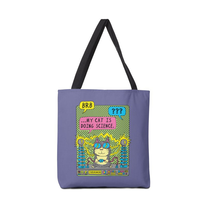Cat Science Accessories Tote Bag Bag by JARHUMOR