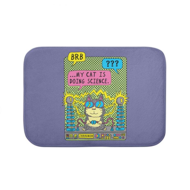Cat Science Home Bath Mat by JARHUMOR