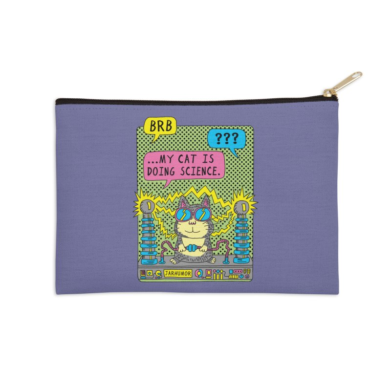 Cat Science Accessories Zip Pouch by JARHUMOR