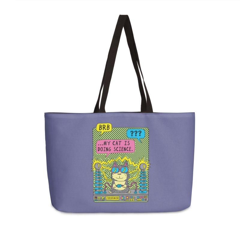 Cat Science Accessories Weekender Bag Bag by JARHUMOR