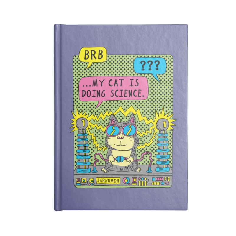 Cat Science Accessories Lined Journal Notebook by JARHUMOR