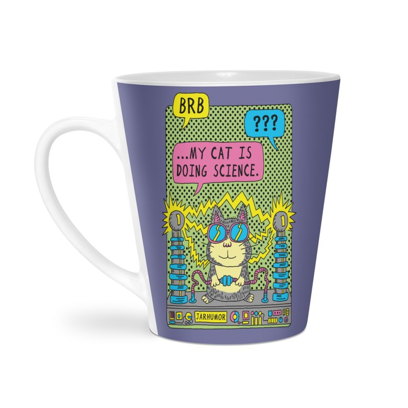 Cat Science Accessories Latte Mug by JARHUMOR