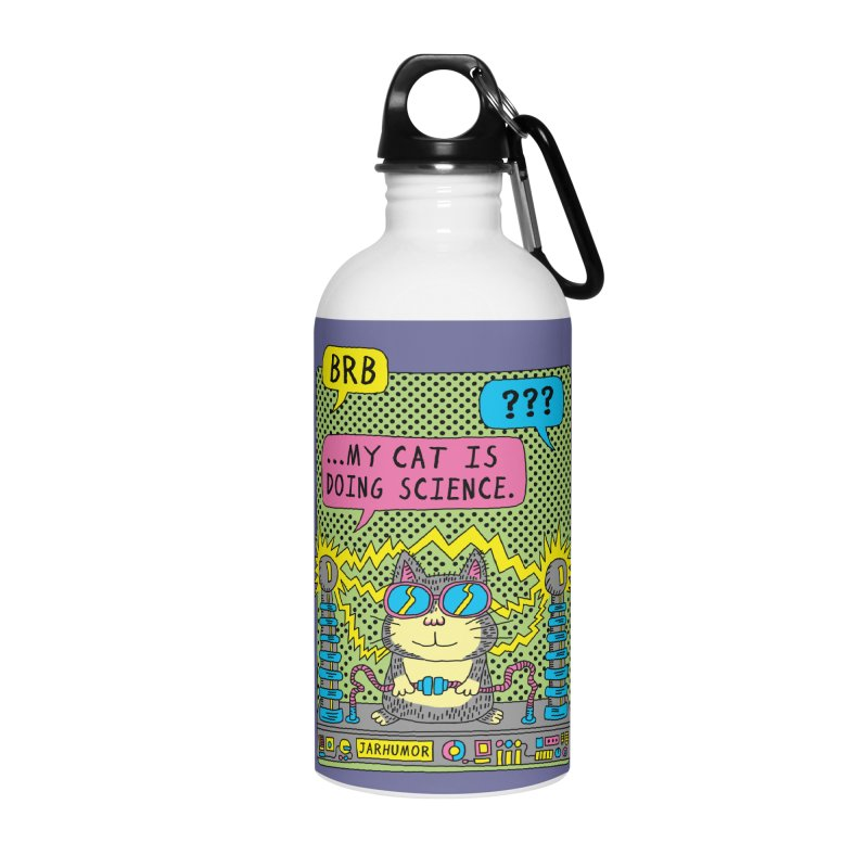 Cat Science Accessories Water Bottle by JARHUMOR