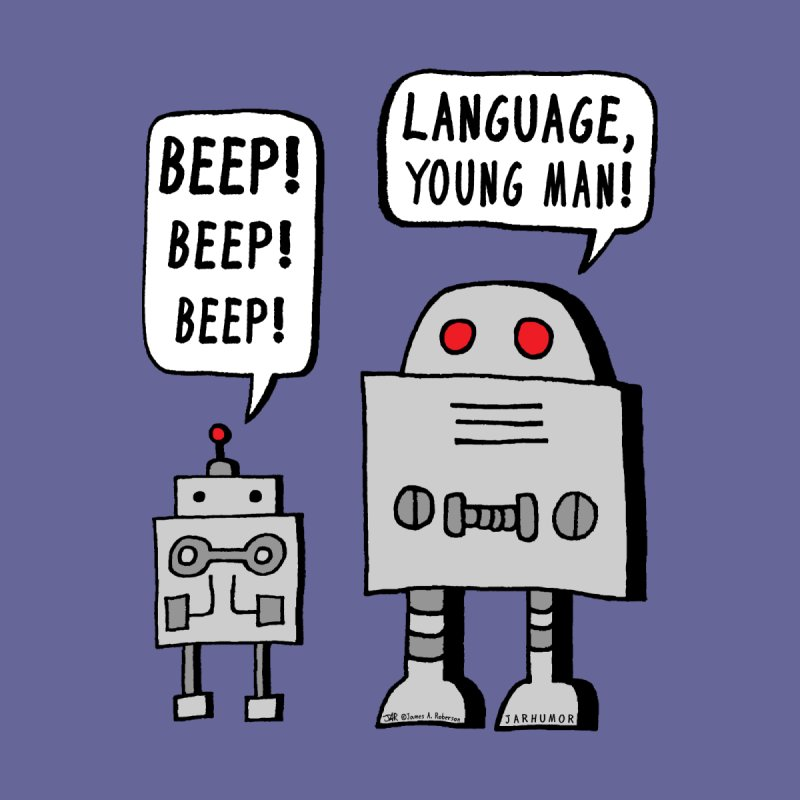 Beeping Robot Men's T-Shirt by JARHUMOR