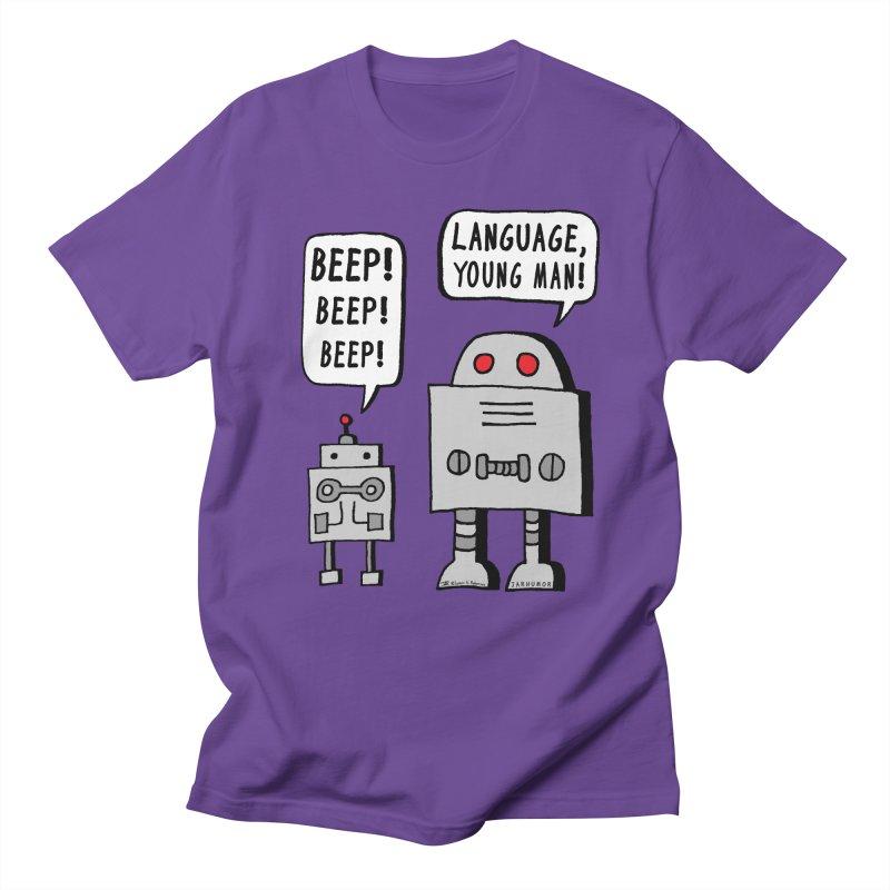 Beeping Robot Men's T-Shirt by JARHUMOR