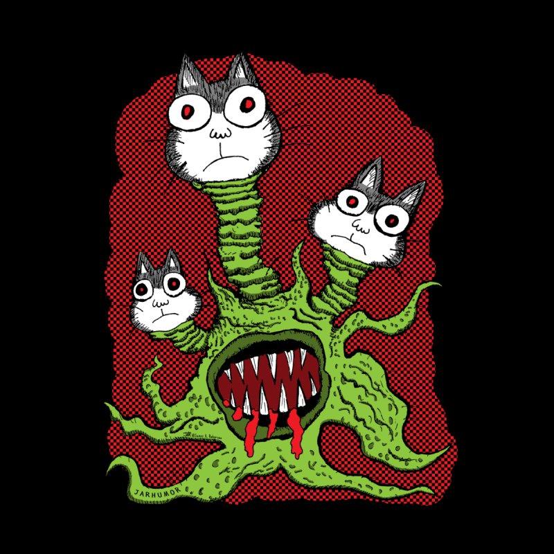 Kitty Monster Men's T-Shirt by JARHUMOR