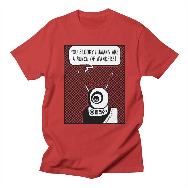 Bloody Humans Men's T-Shirt by JARHUMOR
