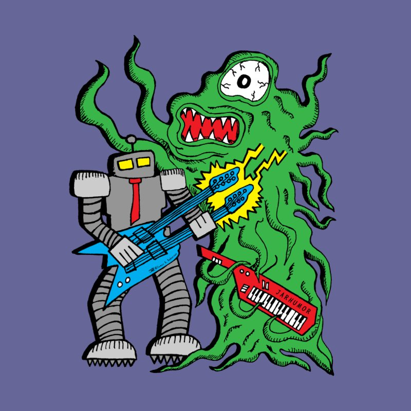 Robot Monster Power Jam Men's T-Shirt by JARHUMOR