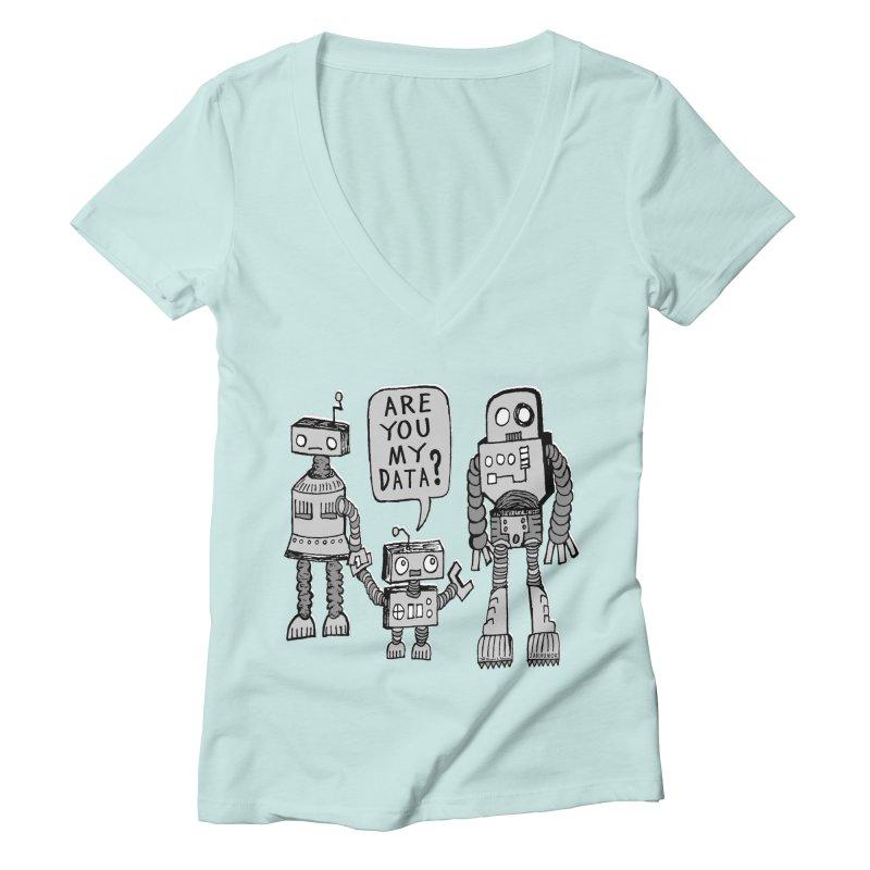 My Data? Robot Kid Women's Deep V-Neck V-Neck by JARHUMOR