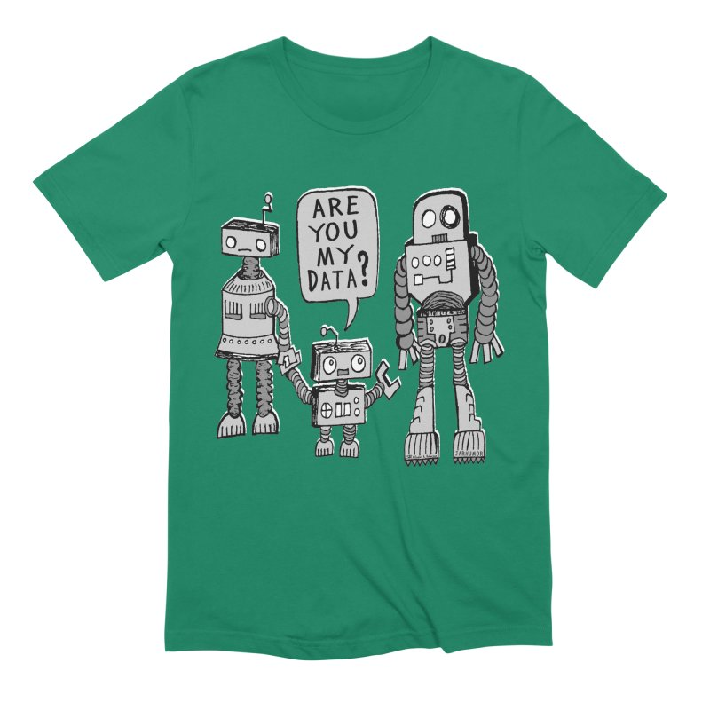 My Data? Robot Kid Men's Extra Soft T-Shirt by JARHUMOR