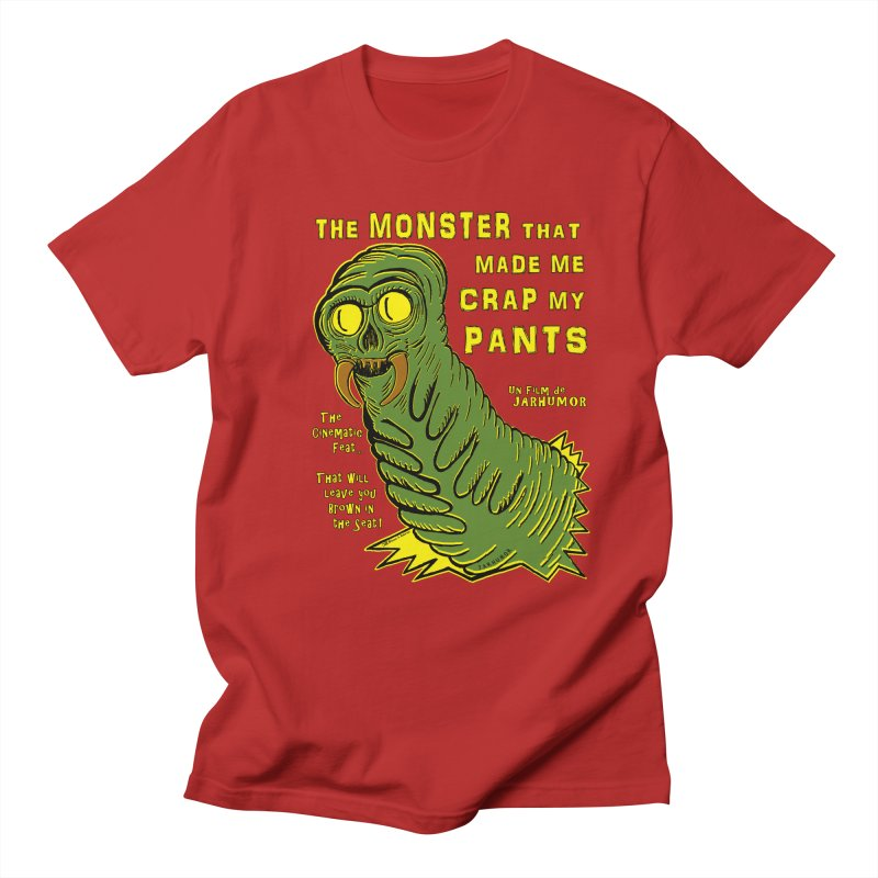 Monster That... in Men's T-shirt Red by James A. Roberson (JARHUMOR)