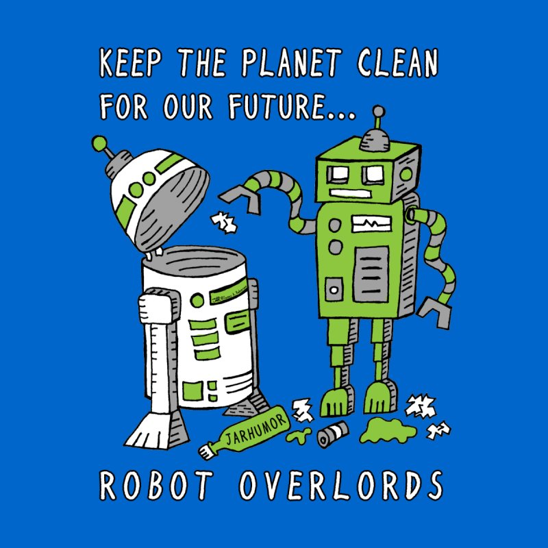 Robot Earth Men's T-Shirt by JARHUMOR