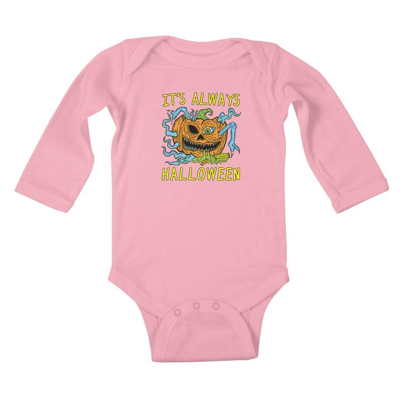 It's Always Halloween Kids Baby Longsleeve Bodysuit by JARHUMOR