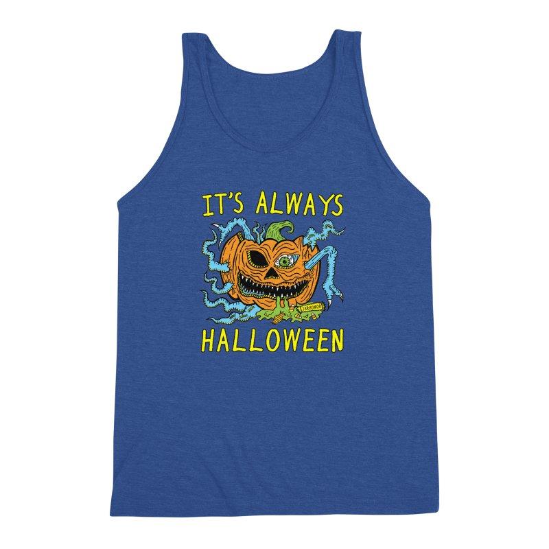 It's Always Halloween Men's Triblend Tank by JARHUMOR