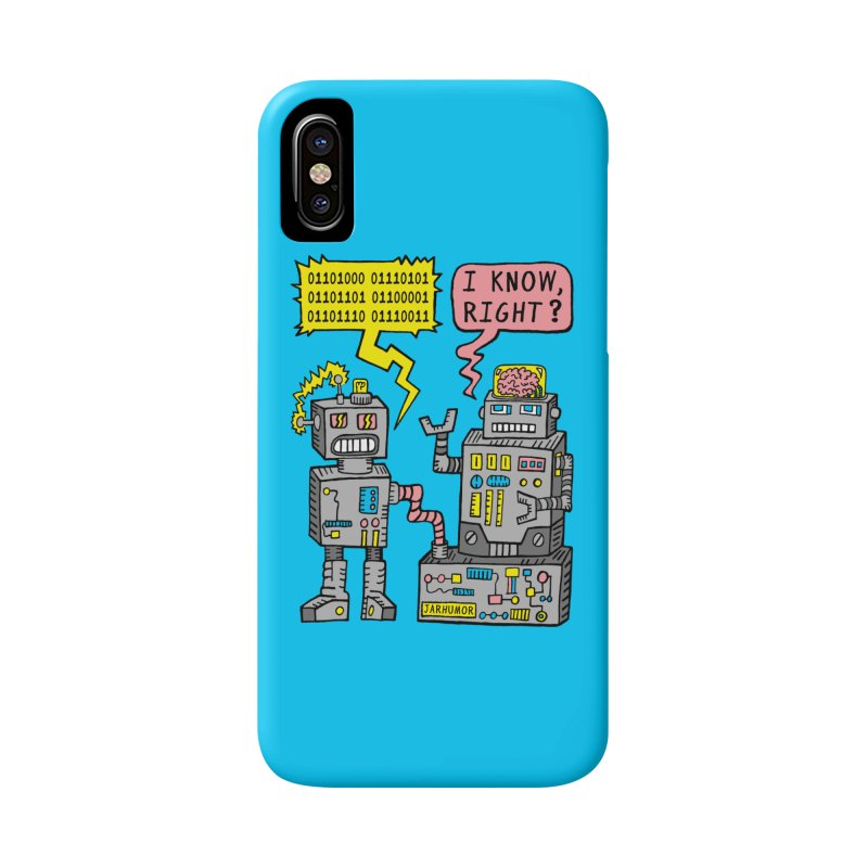Robot Talk Accessories Phone Case by James A. Roberson (JARHUMOR)