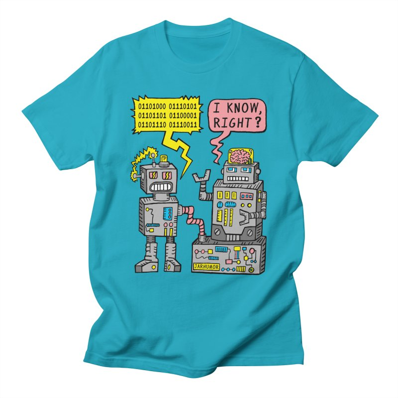Robot Talk Men's T-Shirt by JARHUMOR
