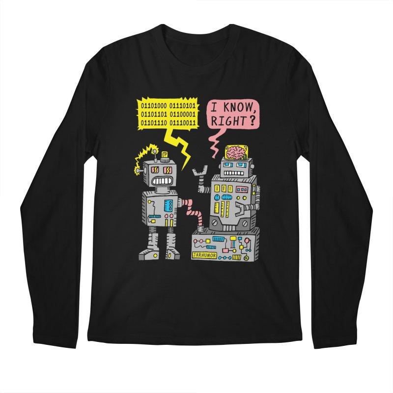 Robot Talk Men's Longsleeve T-Shirt by James A. Roberson (JARHUMOR)