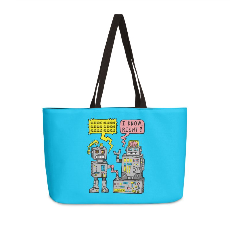 Robot Talk Accessories Weekender Bag Bag by JARHUMOR