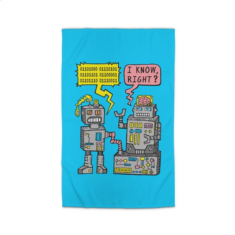 Robot Talk Home Rug by JARHUMOR