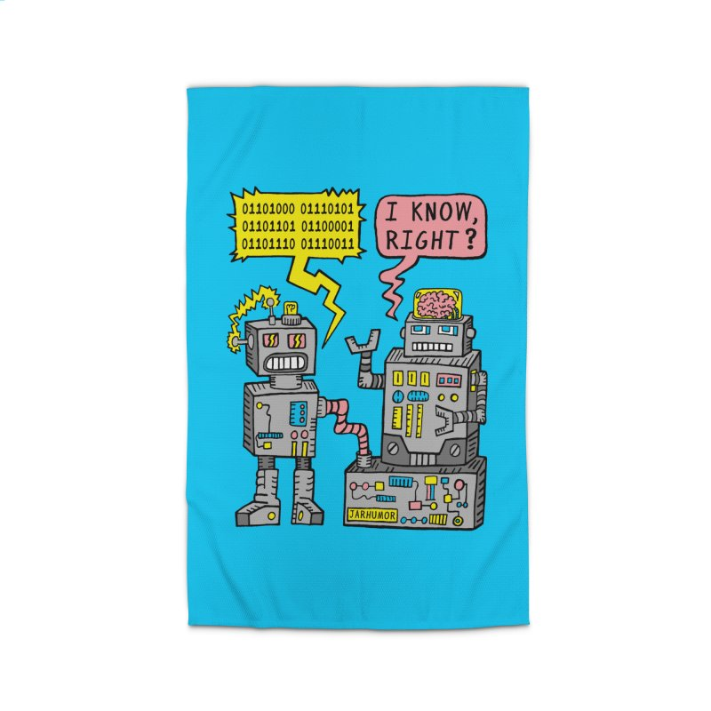 Robot Talk Home Rug by JARHUMOR