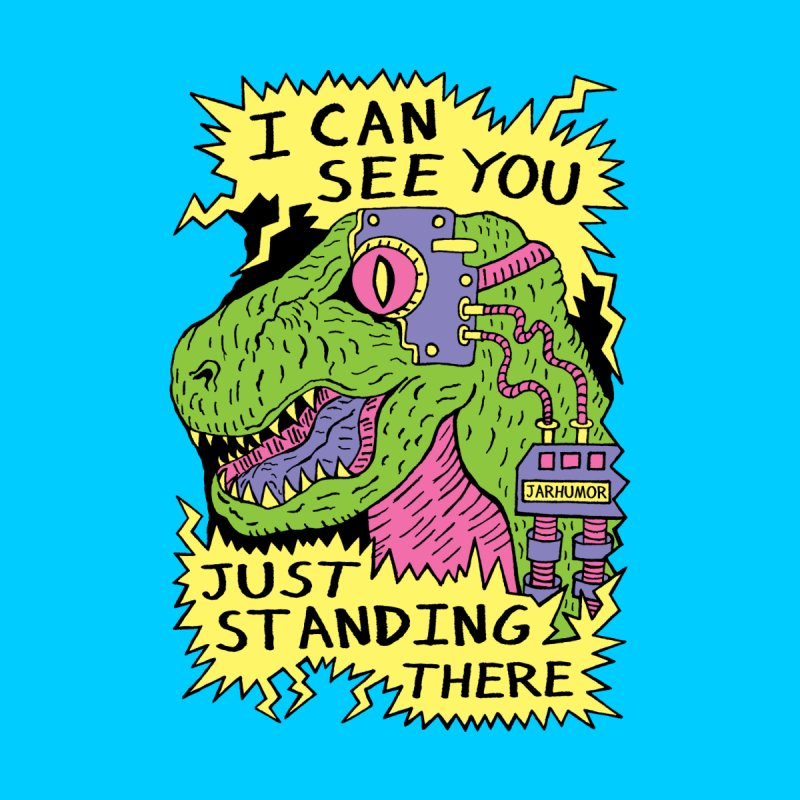 Eye Rex Men's T-Shirt by JARHUMOR