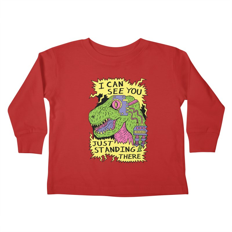 Eye Rex Kids Toddler Longsleeve T-Shirt by James A. Roberson (JARHUMOR)