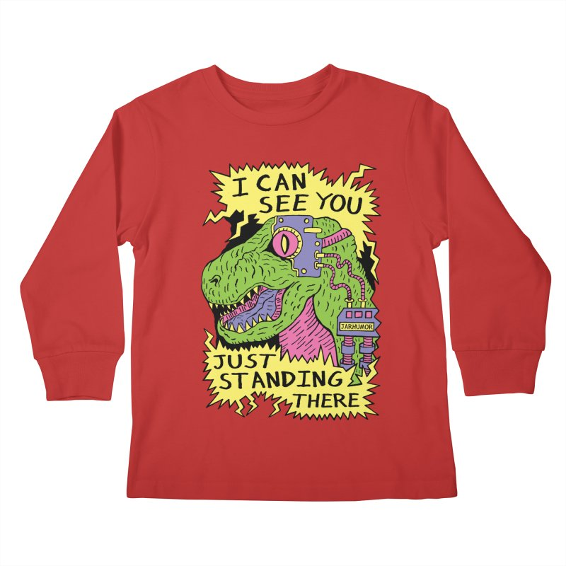 Eye Rex Kids Longsleeve T-Shirt by James A. Roberson (JARHUMOR)