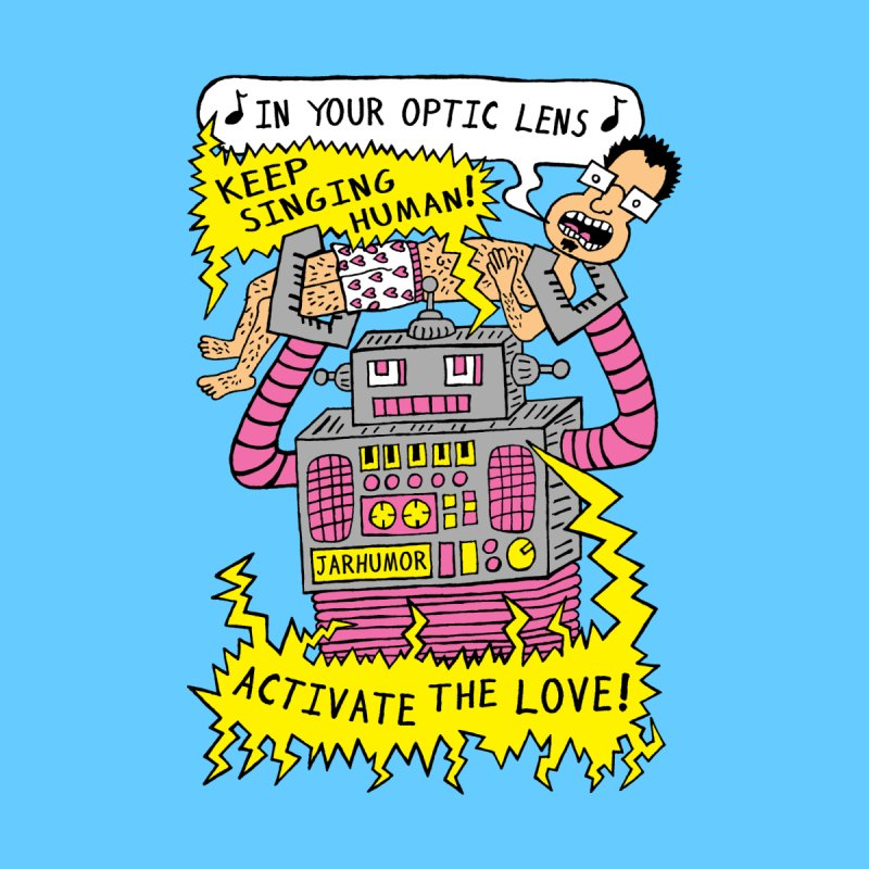 Robot Love Men's T-Shirt by JARHUMOR