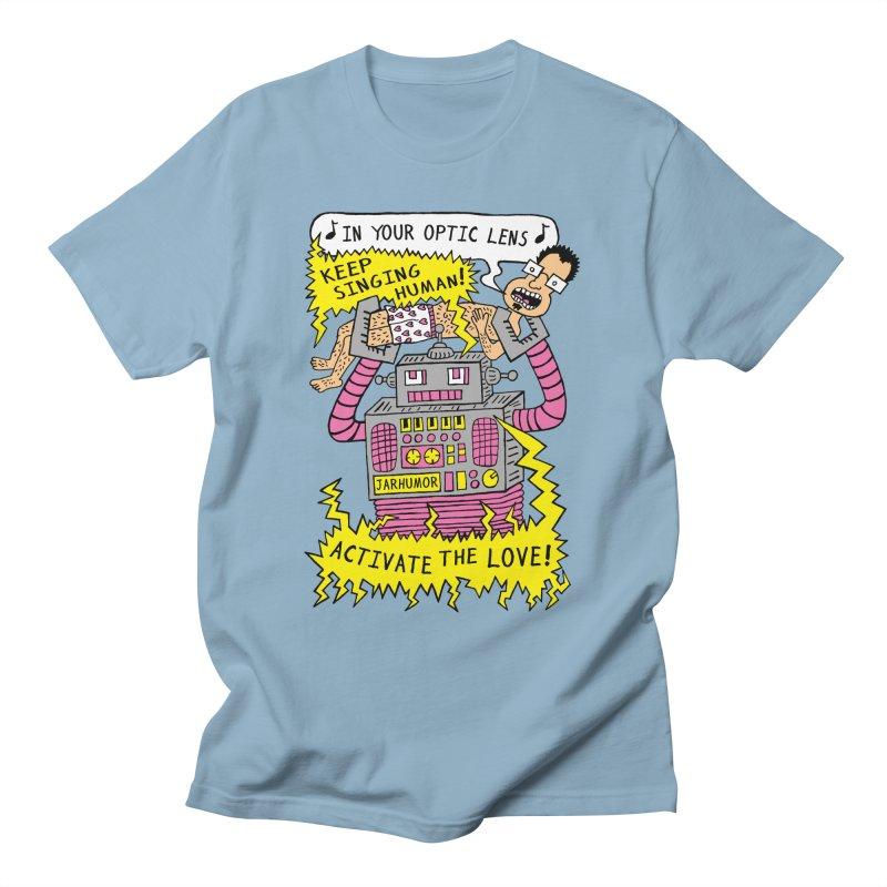 Robot Love Men's T-Shirt by JARHUMOR