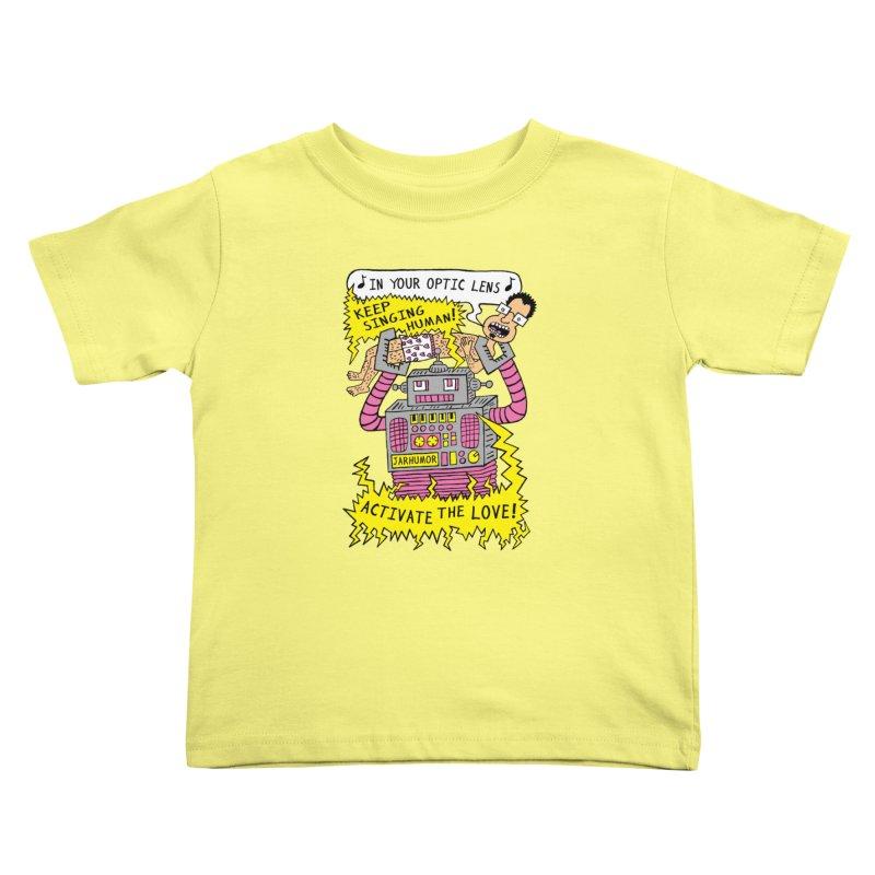 Robot Love Kids Toddler T-Shirt by James A. Roberson (JARHUMOR)