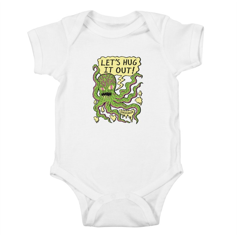 Lets Hug It Out Kids Baby Bodysuit by James A. Roberson (JARHUMOR)