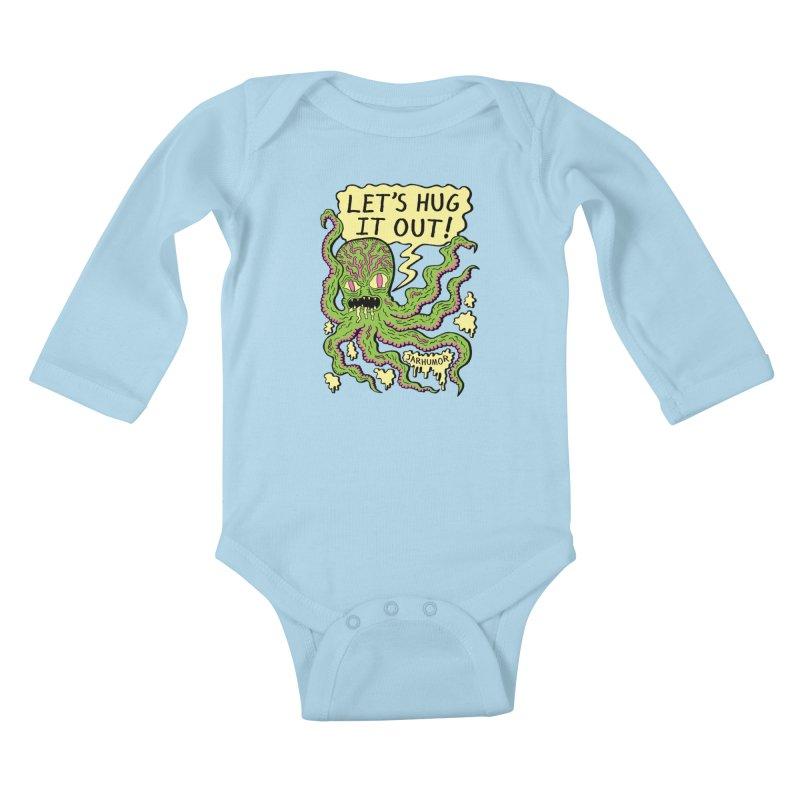 Lets Hug It Out Kids Baby Longsleeve Bodysuit by James A. Roberson (JARHUMOR)